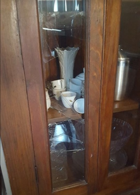 Broken Cabinet Glass