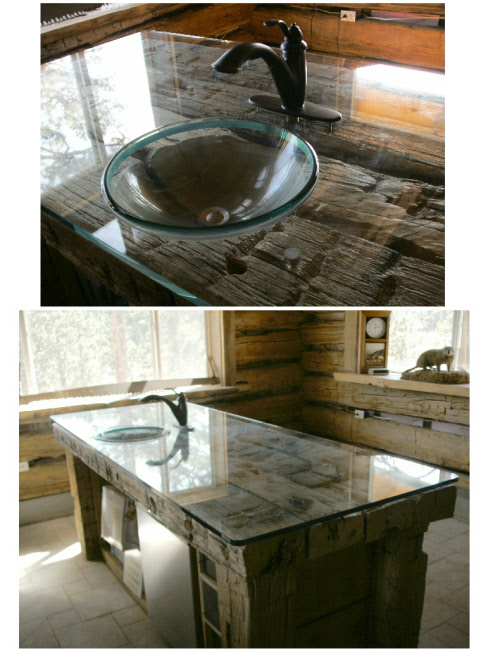 Custom Glass Counter top