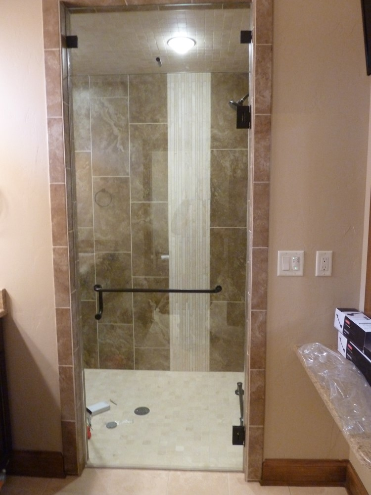 Floor To Ceiling Shower Door Bgs Glass Services Llc