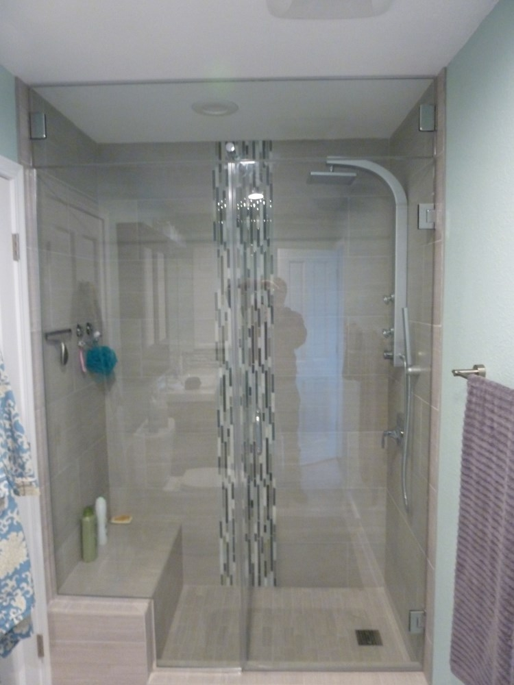 Floor to Ceiling Shower Glass