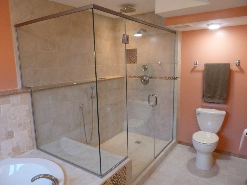 Custom Frameless Shower Doors Milwaukee Frameless Shower Door - Bathroom shower glass installation