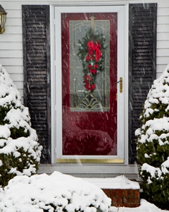 Winter storm door installation West Bend